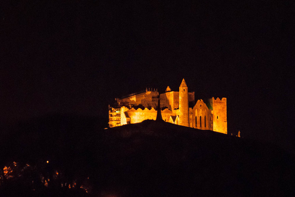 The Rock of Cashel at night