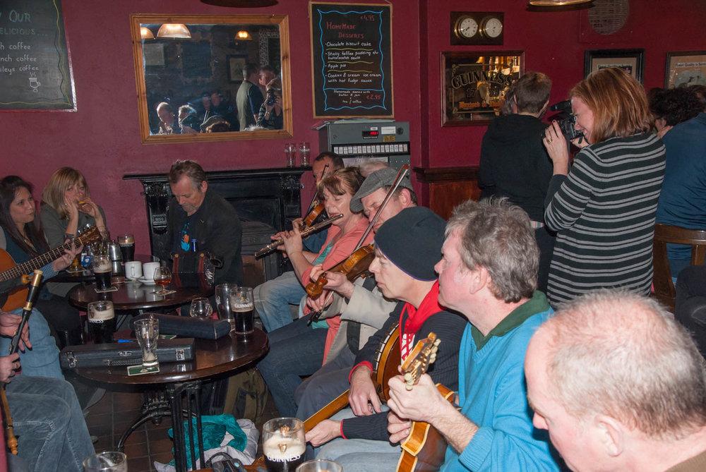 The Sunday night jam at the Marina Inn