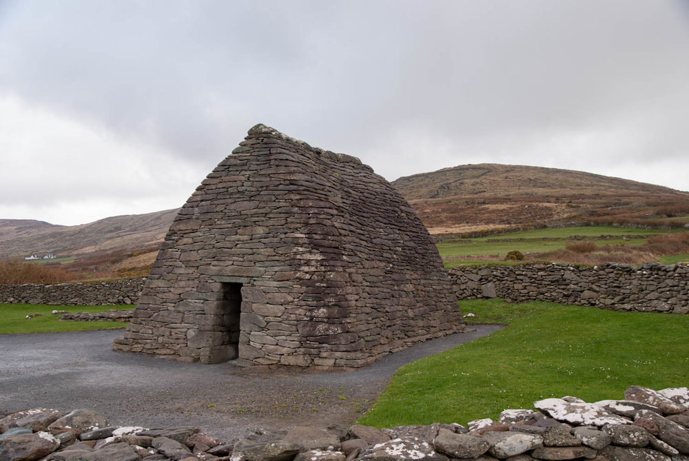 Gallarus Oratory is thought to date to the 12th century