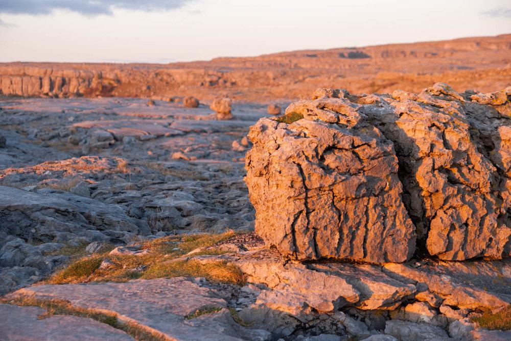 Sunset on the Burren near Doolin