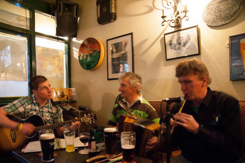 Irish music in Galway