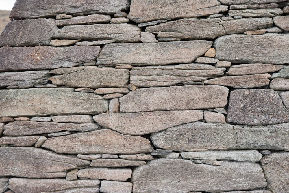 Closeup of the wonderful stonework on the Gallarus Oratory