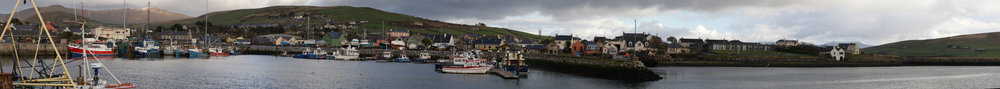 Panoramic view of Dingle harbor