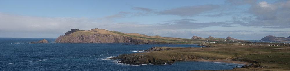 Panoramic view of the Dingle Peninsula