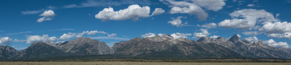 Panorama of the Grand Tetons