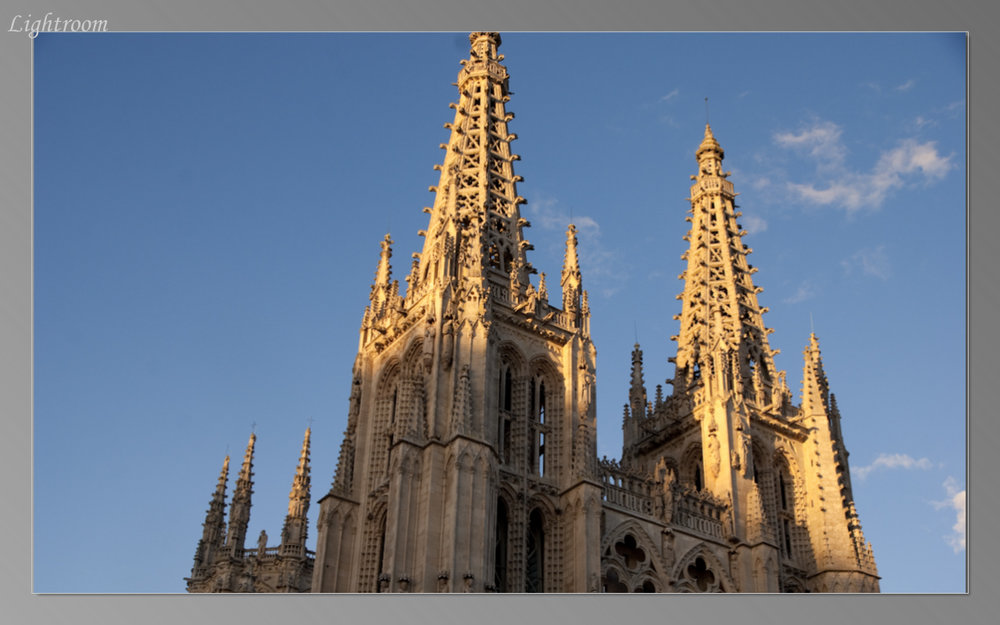 Burgos Cathedral at sunset