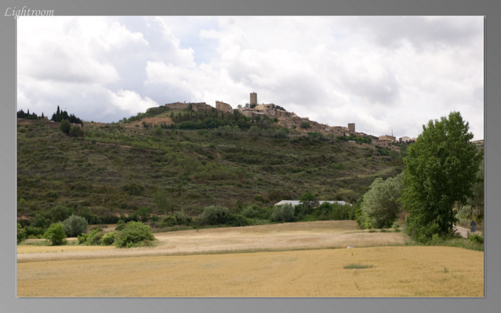 Hill town of Petilla de Aragon, the birthplace of Ramon y Cajal
