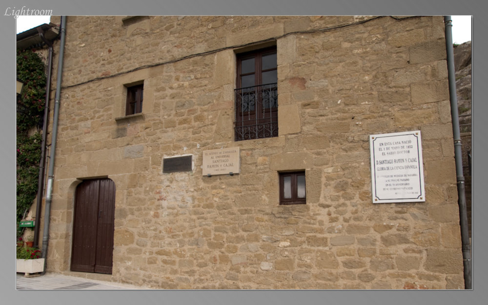 House where Cajal was born is now a museum, but only open on weekends