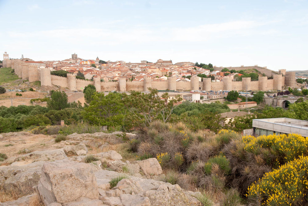 The walled city of Avila