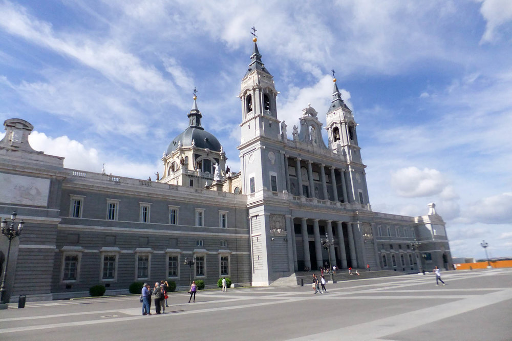 Almudena Cathedral near the Royal Palace