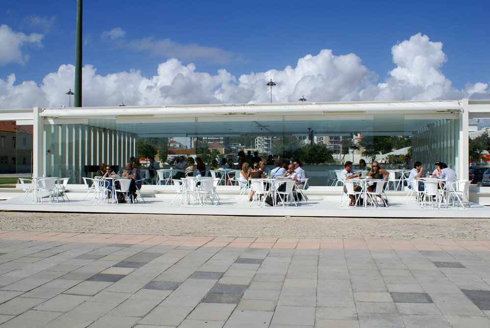 Open air restaurant in Belem