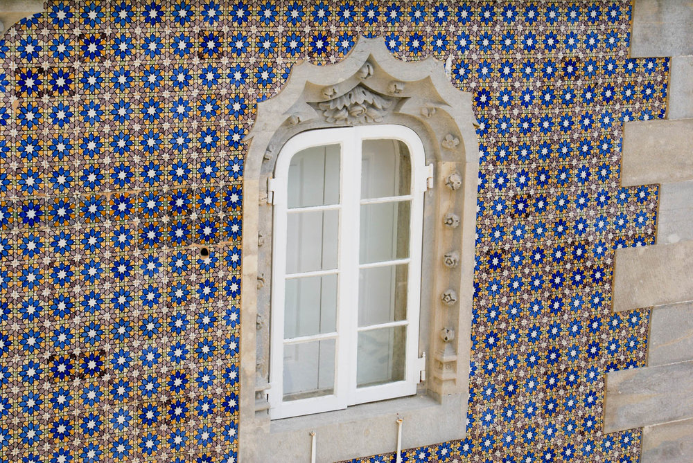 Example of the famous blue Portuguese tile