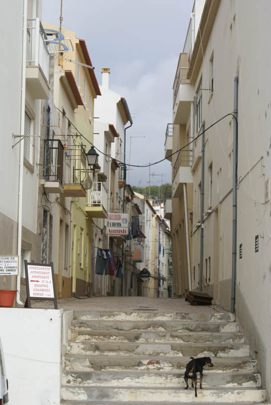 Narrow street in Nazare