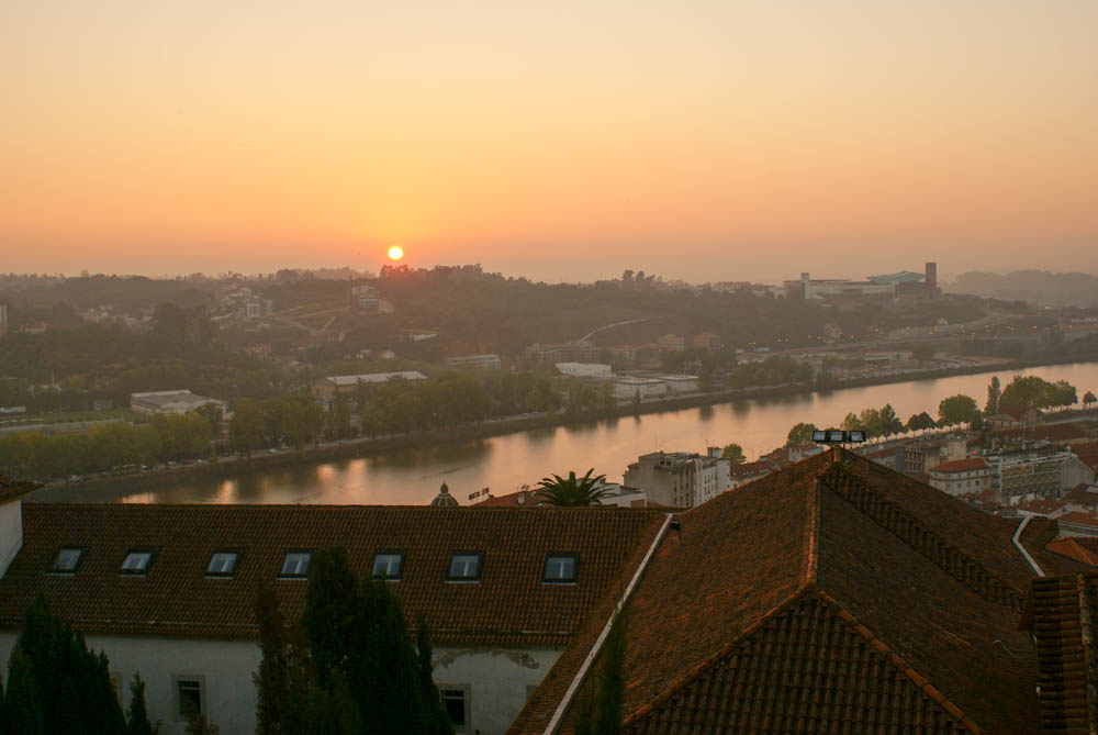 Sunset over Coimbra