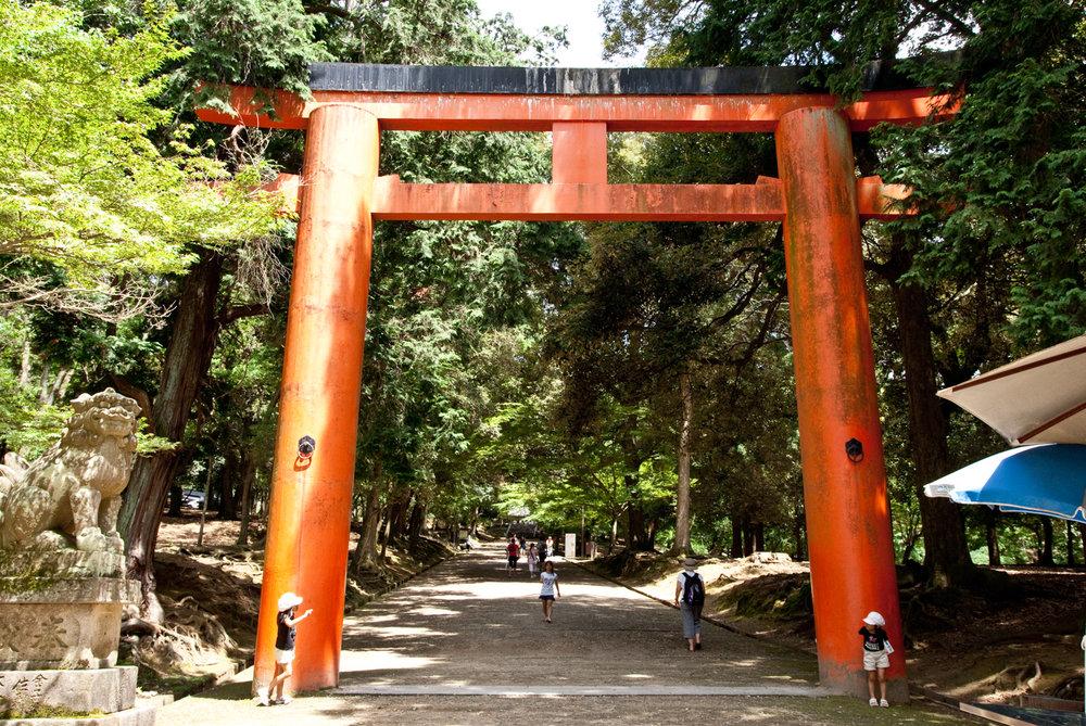 Torii gate to Kasuga shrine