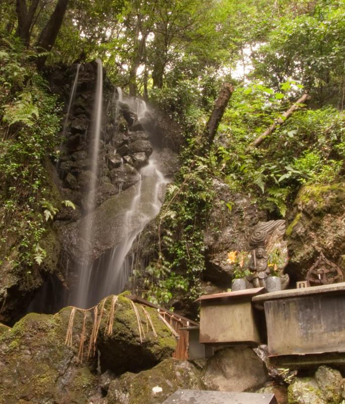 Waterfall and shrine in the Nanzen-ji temple complex