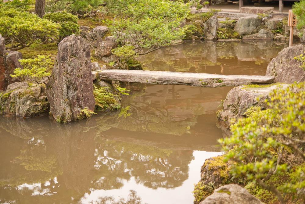 In the Ginkaku-ji (Silver pavilion) temple garden