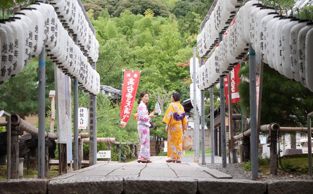 Kimono clad ladies on the street in Gion