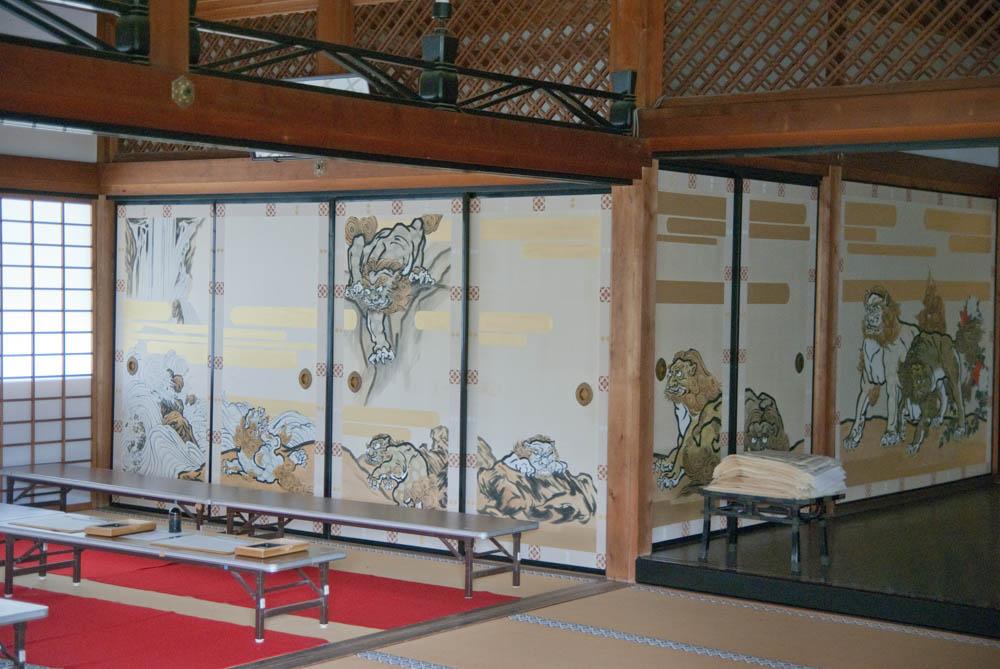 Inside of the Tenryu-ji Zen Temple in Arashiyama
