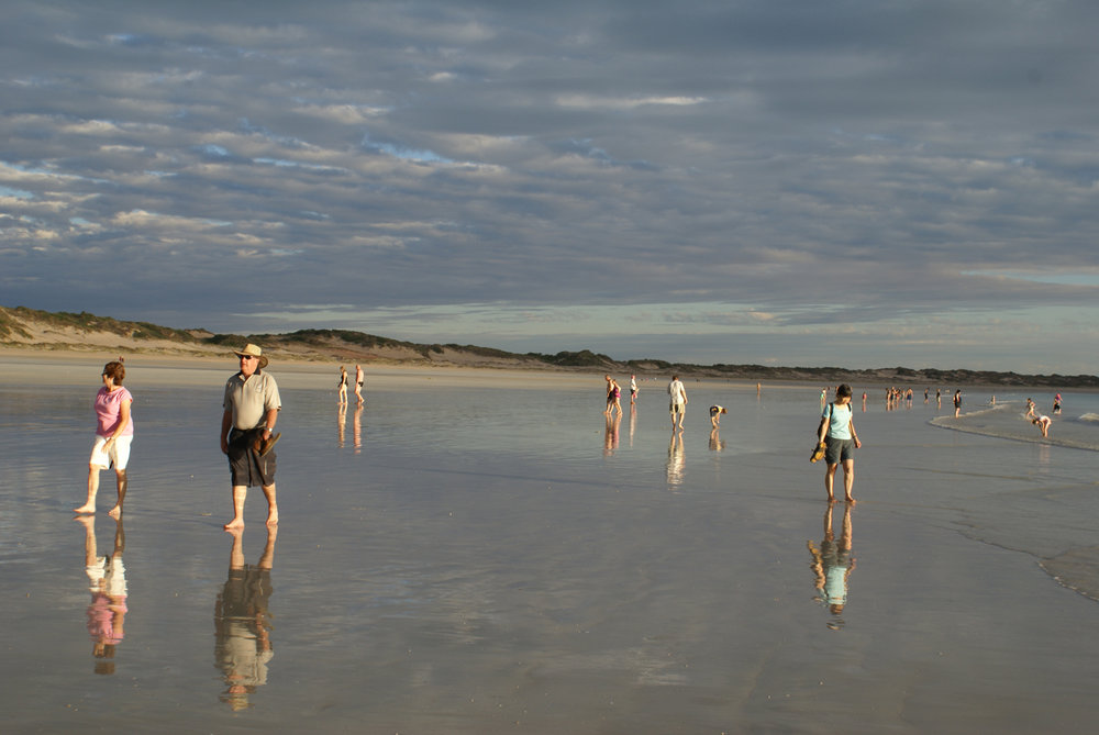 The unusually shallow Cable Beach