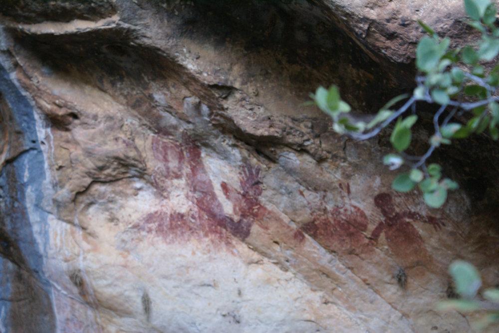 Aboriginal art at Tunnel Creek