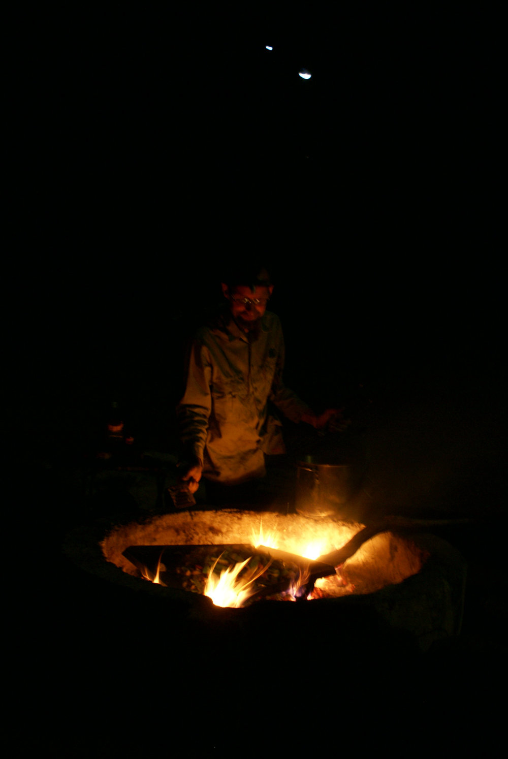 The nightly campfire