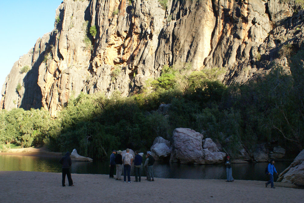 Exploring Windjana Gorge