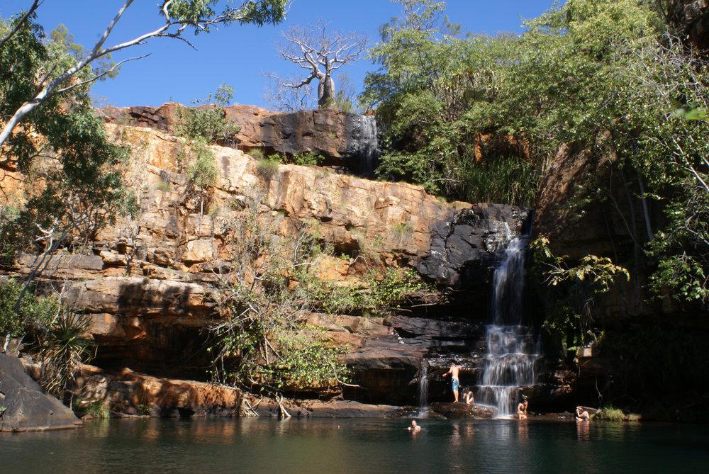 A refreshing dip in Galvan's gorge