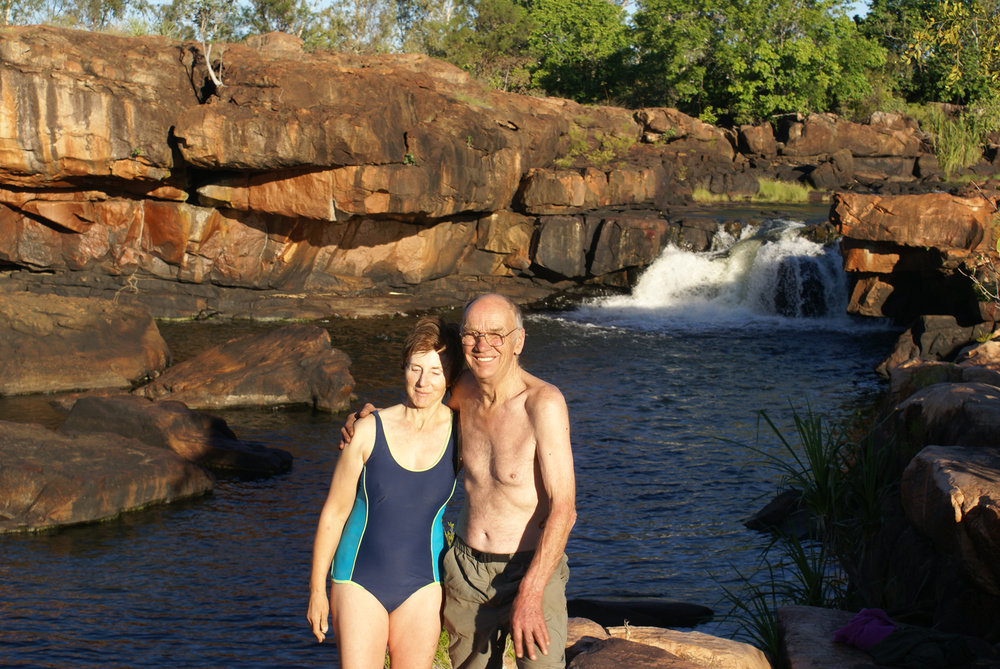 Dick and Pat at Manning Gorge