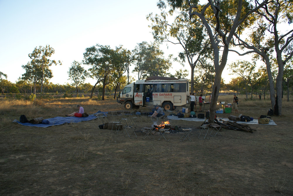 Breaking camp in the morning