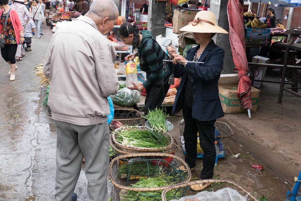 Street market in Dali