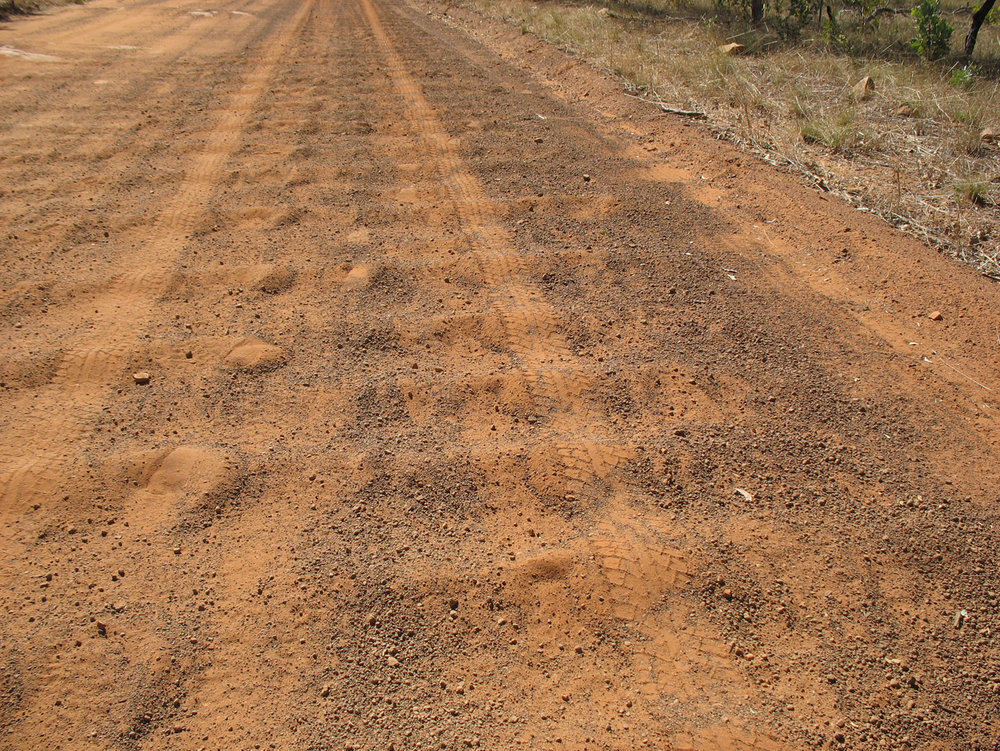 Corrugated washboard of the Gibb River Road