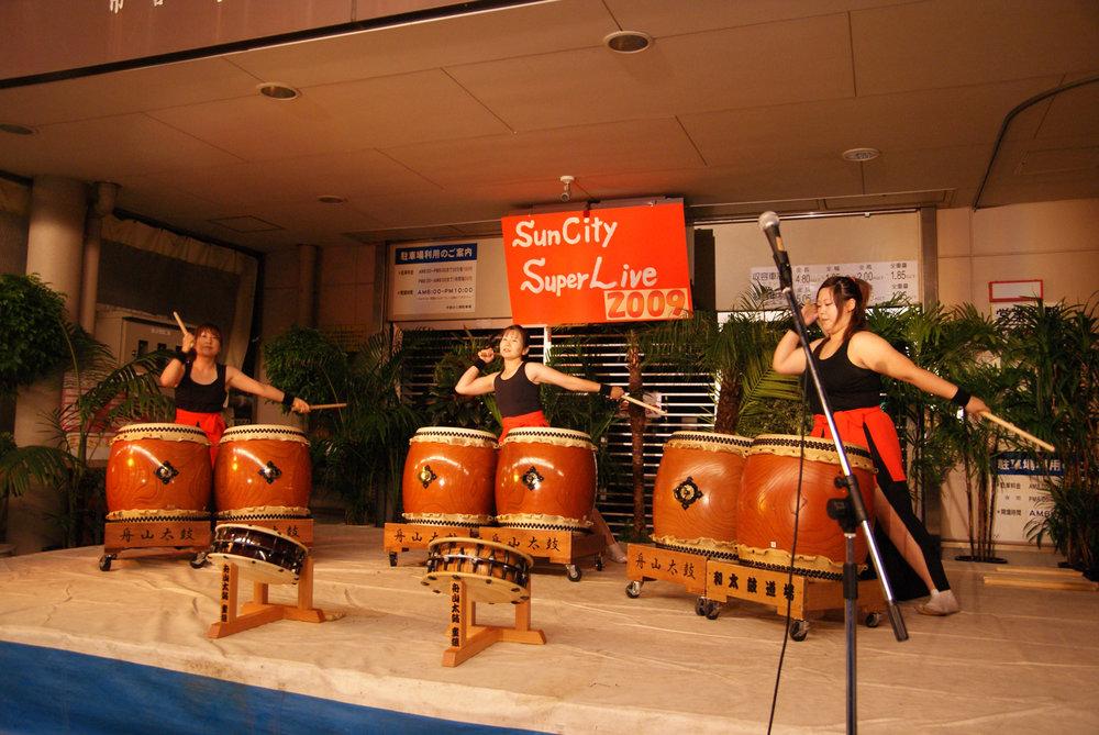 Drumming group at Takayama street festival