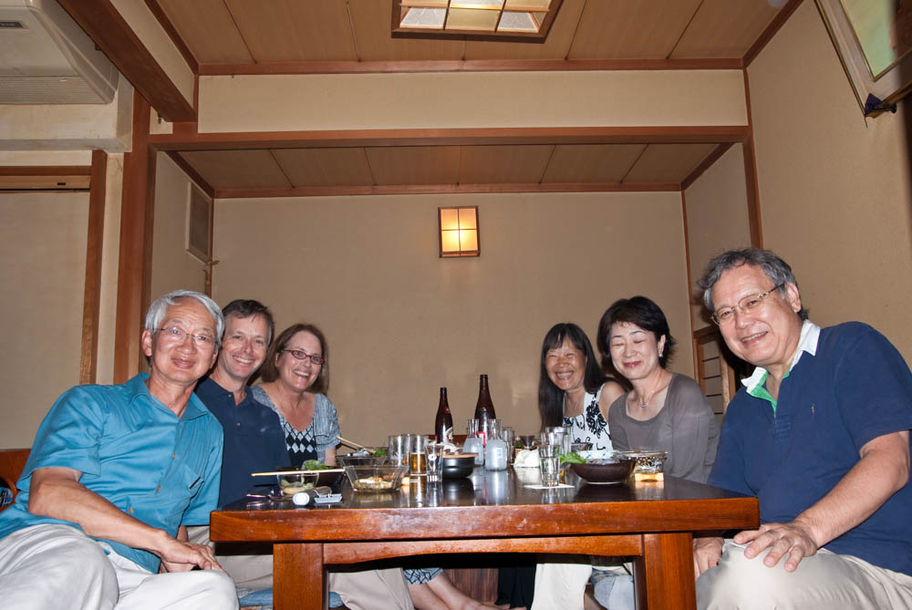 Our host in Kyoto was Prof. Ohmori who took us out for dinner at a small cafe in Ponto Cho with his wife and Prof. Trussell and his wife.