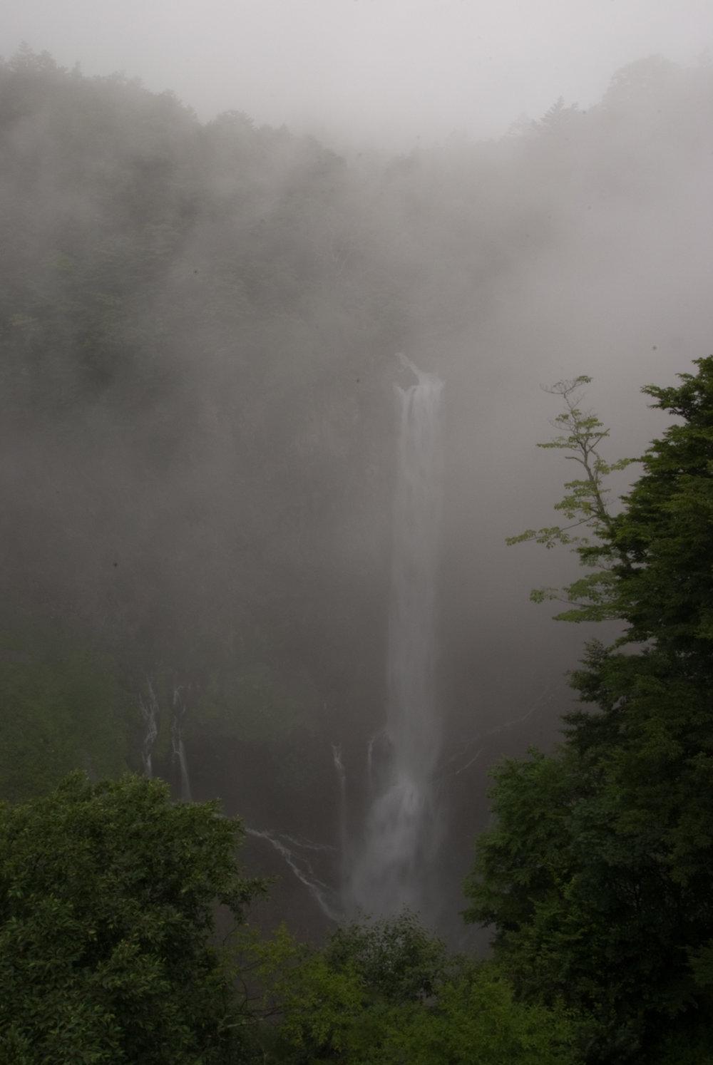 Kegon Falls in the fog