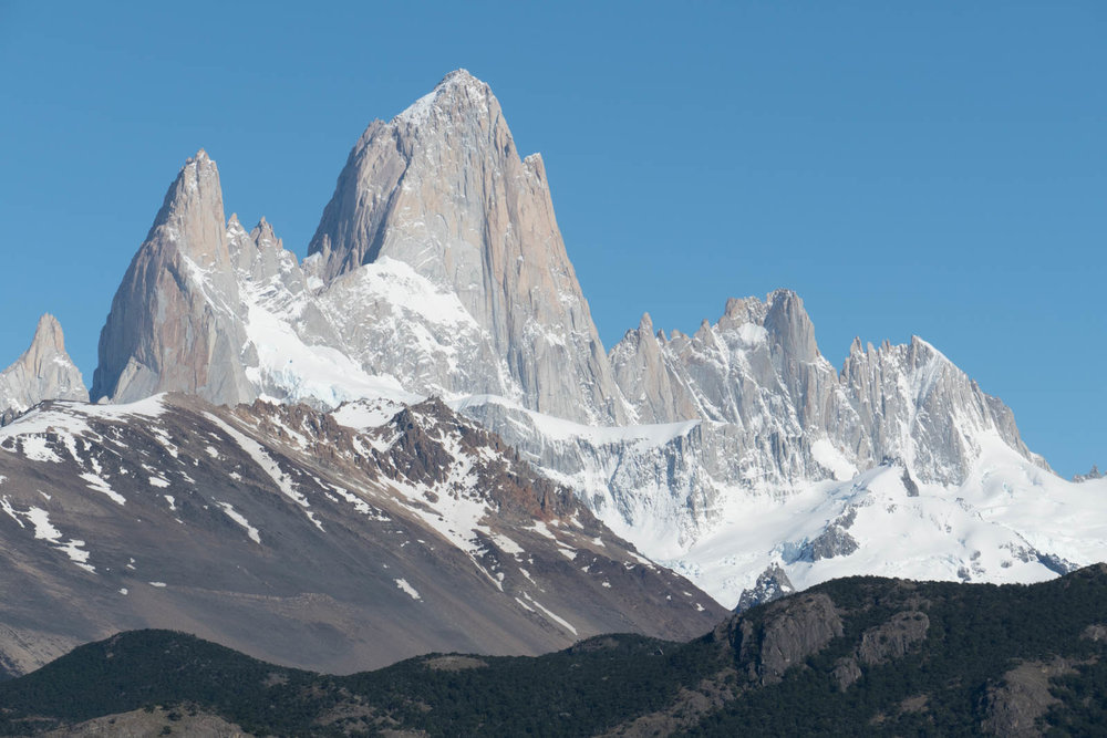 FitzRoy massif on a clear day