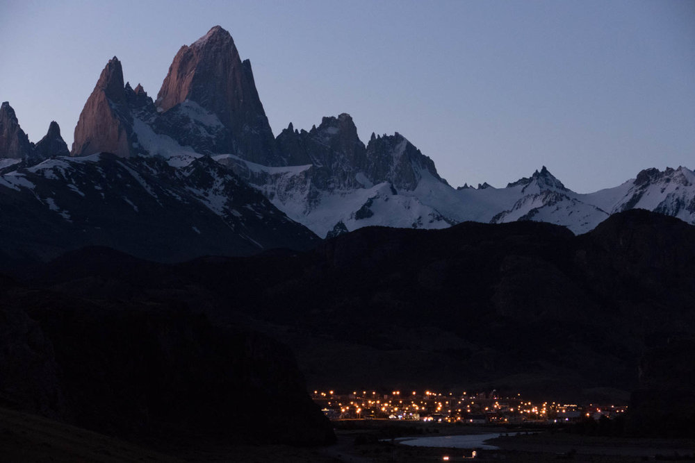 FitzRoy and El Chalten at dusk