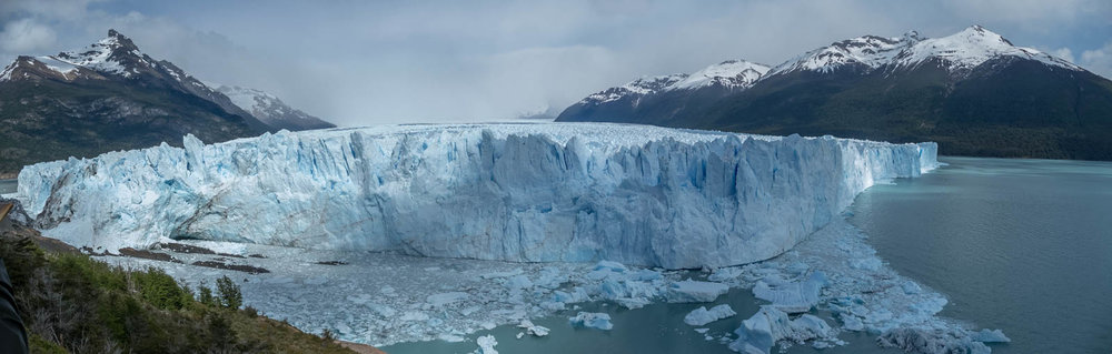 Panorama view of the Perito Moreno glacier