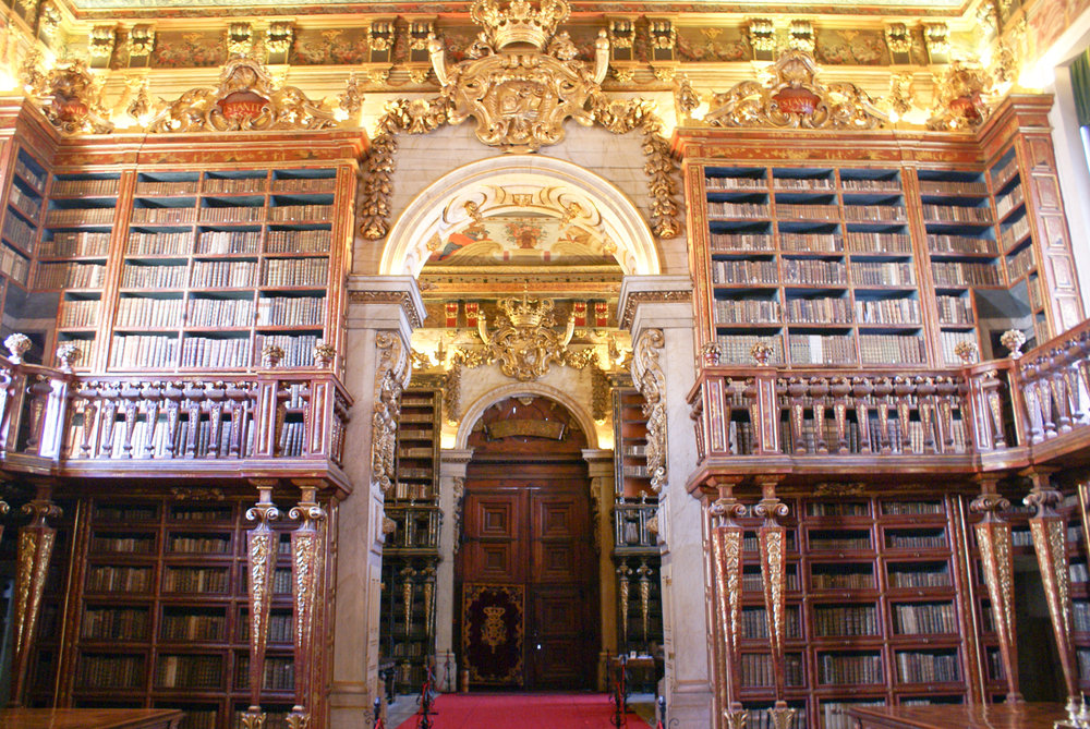 Biblioteca Joanina at the University of Coimbra.