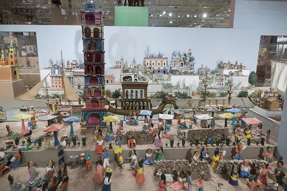 Diorama of a Spanish town