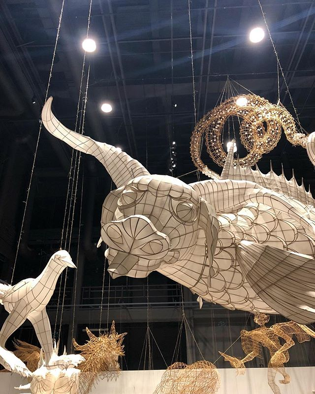 The Mythical World #shanhaijing! @aiww #aiweiwei @marcianoartfoundation #art #flying #kite #silk #bamboo #loveit #genius