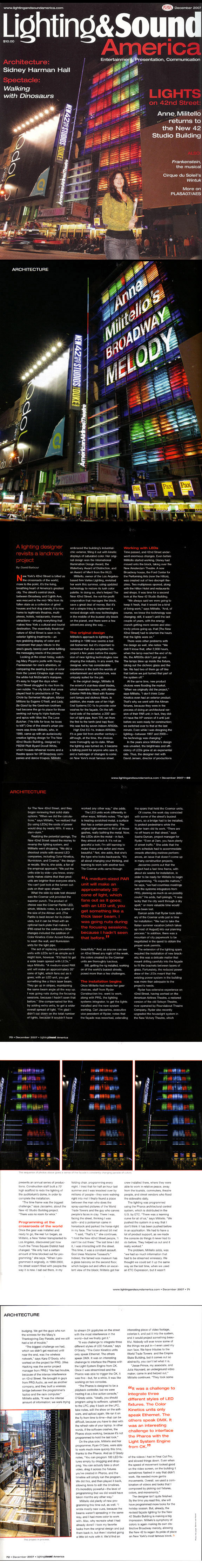 LIGHT & SOUND AMERICA | DECEMBER 2007