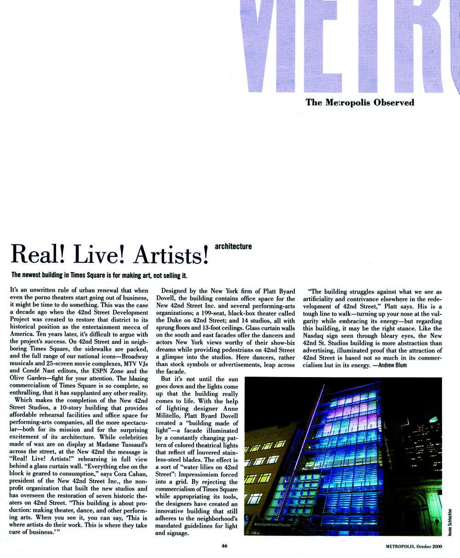 METROPOLIS |OCTOBER 2000