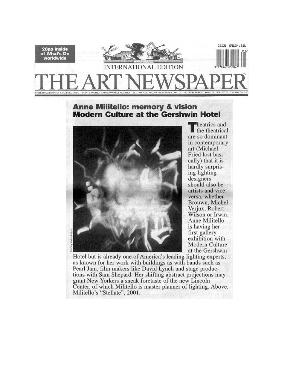 THE ART NEWSPAPER | 2002
