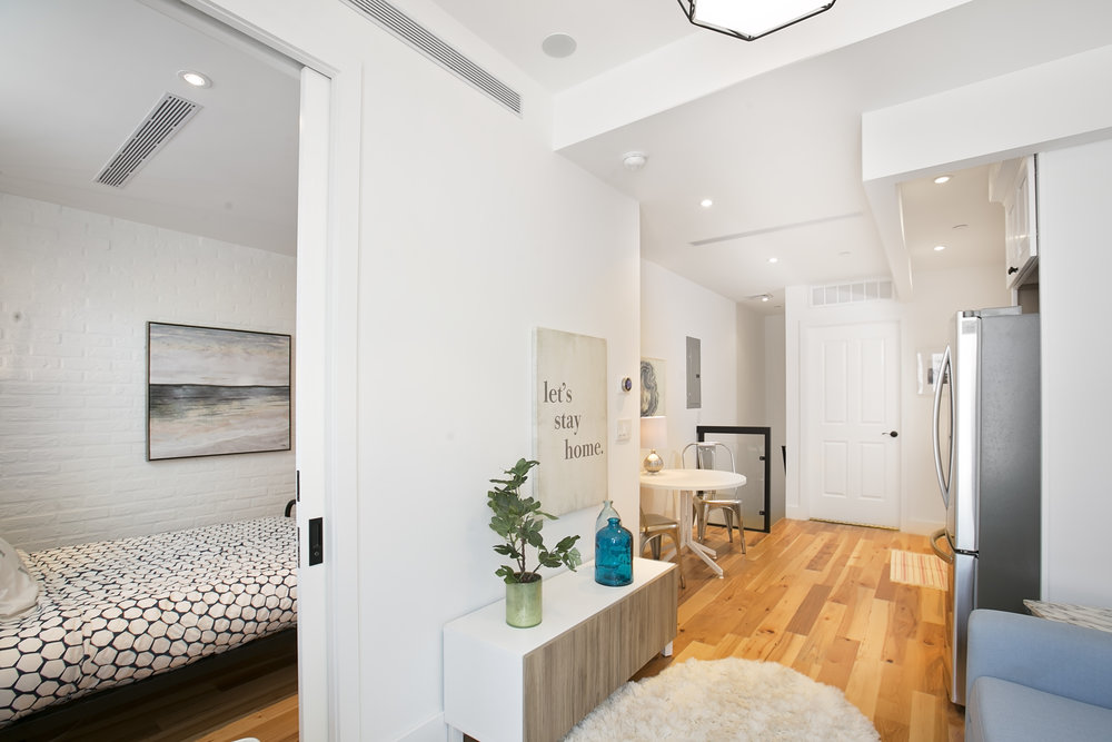 Residence 1A has a townhouse-feeling. - Private Entry give a feeling of a townhouse-style condo.
