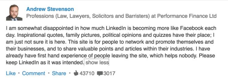 LinkedIn News Feed - Mindi Rosser