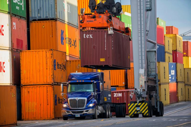 For the first quarter of Fiscal Year 2019, the Port of Savannah has handled 1.1 million twenty-foot equivalent container units. Find print quality images    here   . (Georgia Ports Authority / Stephen B. Morton)