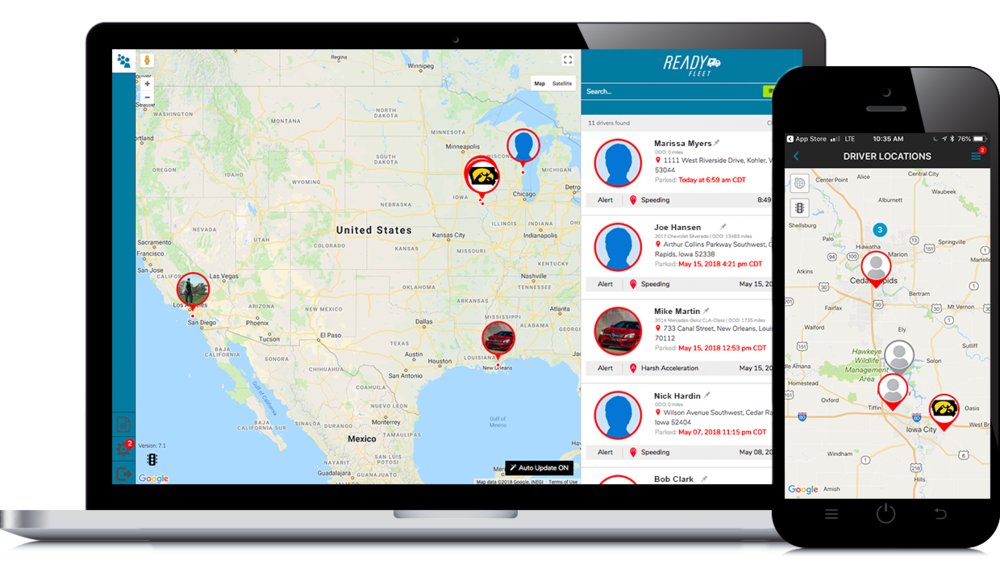 Real Time Location Tracking - Always know where your drivers are throughout the day and route vehicles with current traffic in mind, through real-time location tracking and traffic awareness.