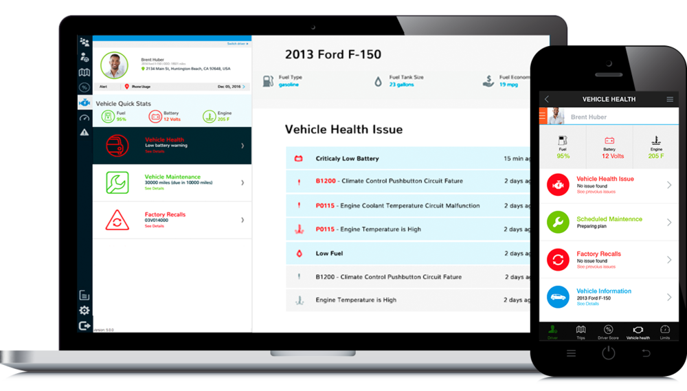 Reporting - Keep costs under control with visibility into fuel usage, idle time and fill-ups.