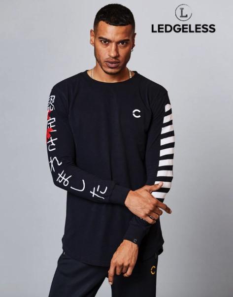 86202e4b6 OZU Mens Long Sleeve T-shirt Black